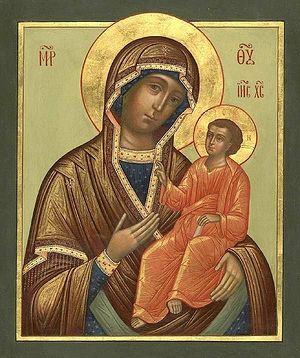Tikhvin icon of the Mother of God.