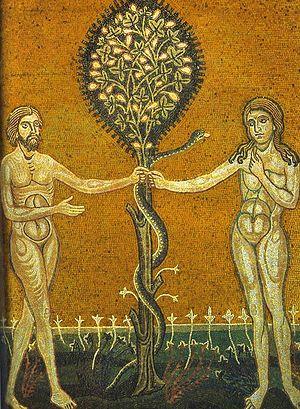 Грехопадение праотцев. Мозаика Равенны