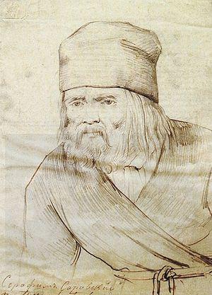 Прижизненный портрет преподобного Серафима Саровского.