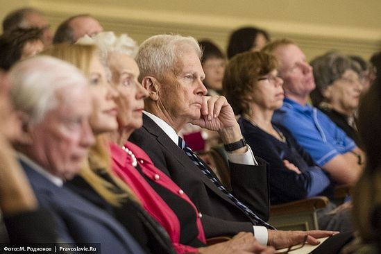 The Librarian of Congress, Dr. James H. Billington, at the Sretensky Choir concert in the Library of Congress. Photo: M. Rodionov/Pravoslavie.ru