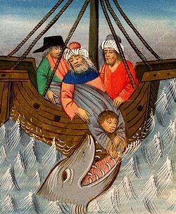 Тогда он сказал им: возьмите меня и бросьте меня в море, и море утихнет для вас, ибо я знаю, что ради меня постигла вас эта великая буря. Иона. 1:12