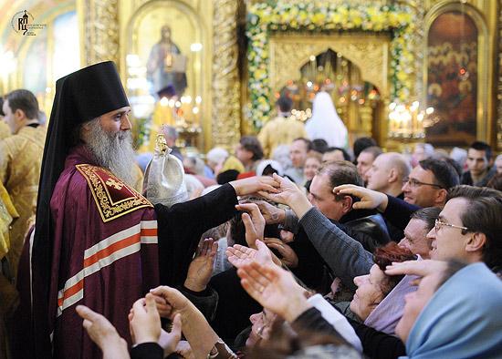 Хиротония во епископа Нарьян-Марского и Мезенского в Богоявленском кафедральном соборе Москвы 25 февраля 2012 года.