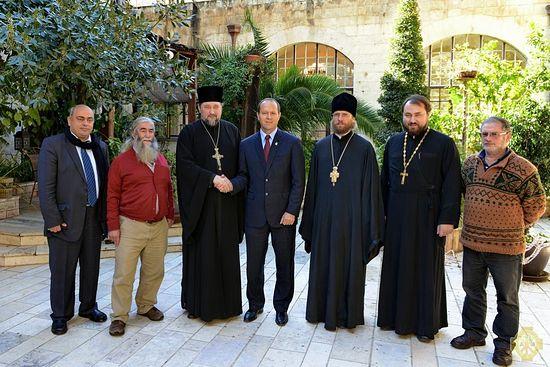 Визит мэра Иерусалима в Русскую духовную миссию