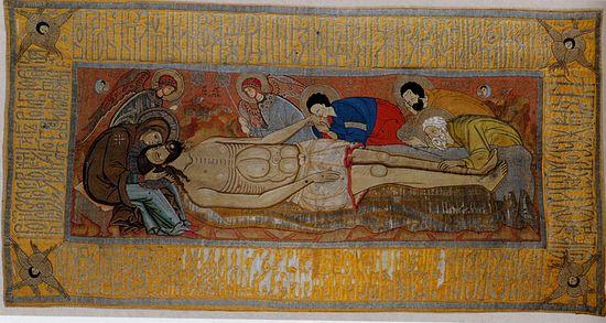 Положение во гроб - Агриппины Годуновой 1570-1580-е гг.