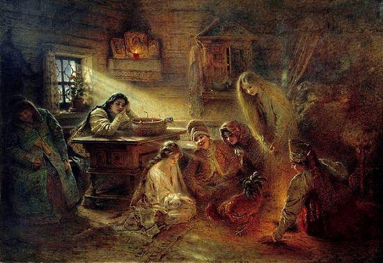 К.Маковский. Святочные гадания. 1890-е