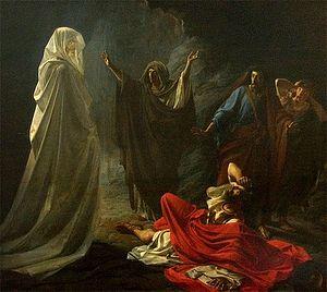 Н.Ге. Саул у Аэндорской волшебницы. 1857