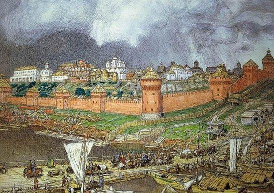 Московский Кремль при Иване III. А. М. Васнецов