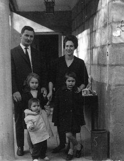 Семья Михаила Георгиевича Осоргина. Кламар 1962 г.