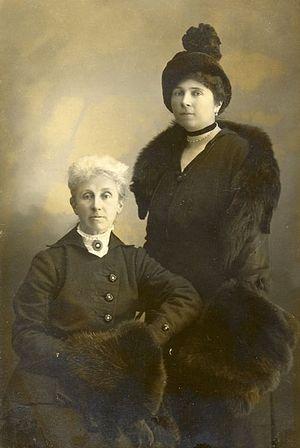 Баронесса С. Буксгевден со своей матерью Людмилой Петровной Буксгевден (урожденной Осокиной)