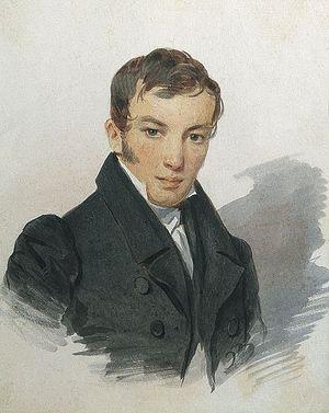 П. Соколов. Портрет В. А. Жуковского. 1820-е гг.