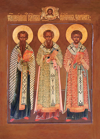 Synaxis of the Three Hierarchs: St. Basil the Great, St. Gregory the Theologian, and St. John Chrysostom