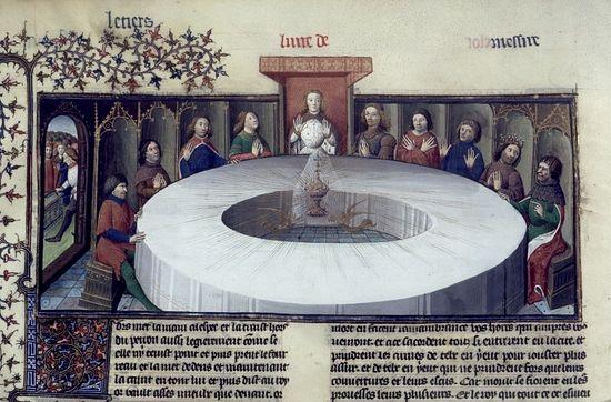 Видение Святого Грааля (из французской рукописи XV века).