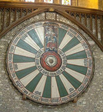 Копия Круглого стола Артура в Большом замке, Винчестер (XIII в.).