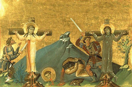 Святые мученицы Марфа, Мария и преподобномученик Ликарион отрок