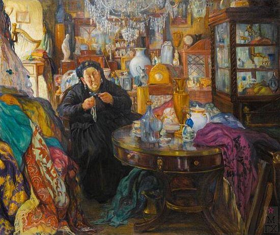 О.Л. Делла-Вос-Кардовская. Антикварная лавка,1916.