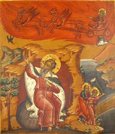 Огненное восхождение пророка Илии на небо