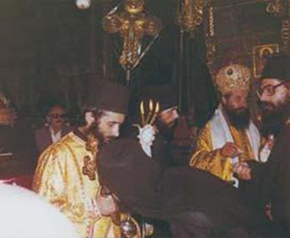 Рукоположение отца Космы в диаконы в монастыре Григория Преподобного на Афоне