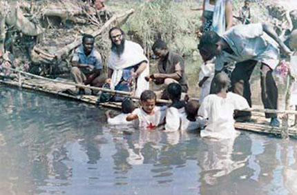 Массовые крещения, совершаемые блаженной памяти отцом Космой Григориатисом, просветителем заирского народа