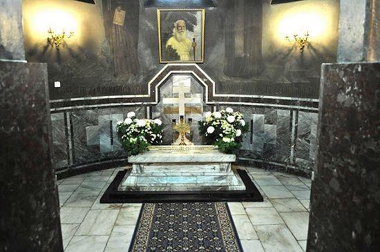 The tomb of Archbishop Seraphim (Sobolev). St. Nicholas Cathedral, Sofia