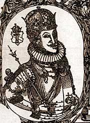 Король Сигизмунд III, гравюра конца XVI в.