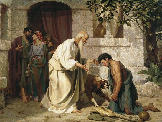 Притча о блудном сыне. Автор: Н.Лосев, 1882.
