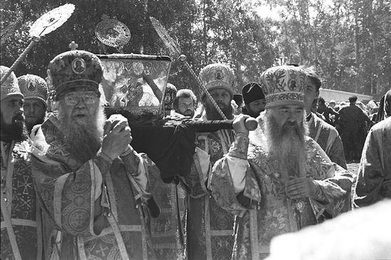 Перенесение мощей прп. Серафима. 1991 г.