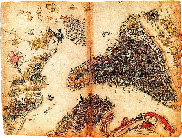 Карта Константинополя - Нового Рима