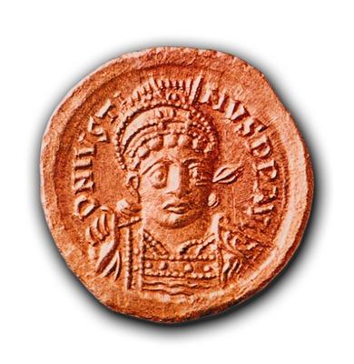 Юстин I на монете