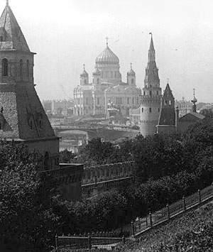 Храм Христа Спасителя. Старинная фотография с сайта xxc.ru