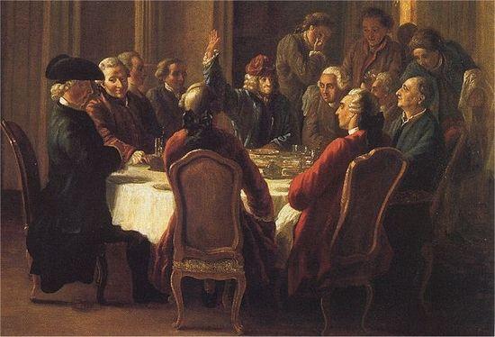 Ж.Юбер. Обед философов. 1772 г.