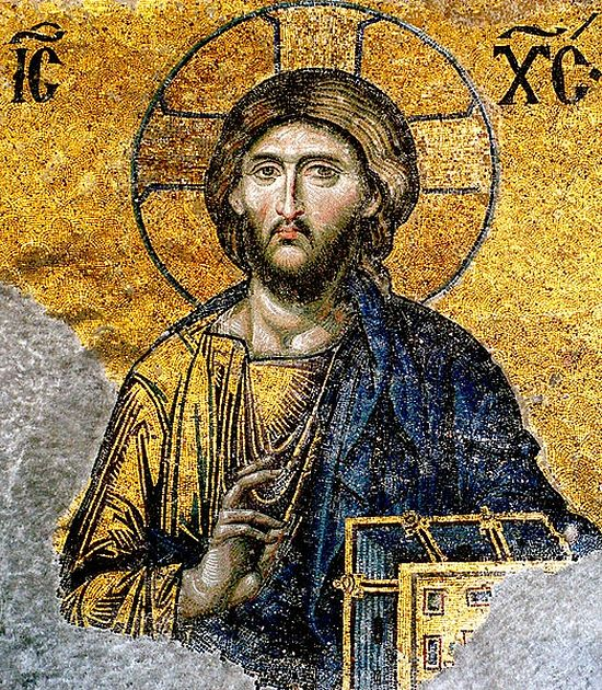 Jesus Christ Pantocrator (Detail from deesis mosaic) from Hagia Sophia