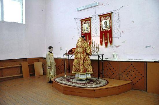 Богослужение в казачьей станице