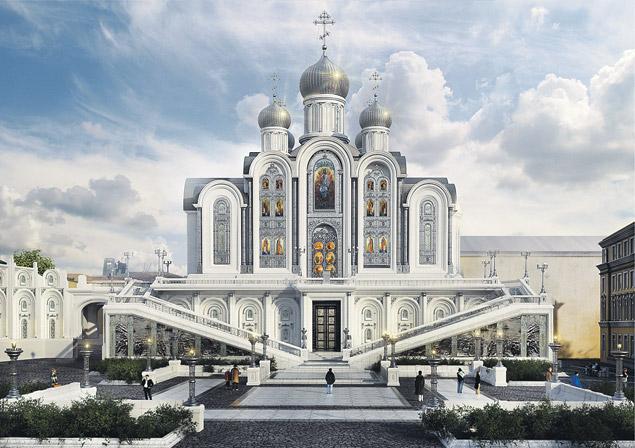 Храм Новомучеников и Исповедников Российских «на крови», что на Лубянке, планируют возвести в Сретенском монастыре и освятить в феврале 2017-го – к столетию революционных событий