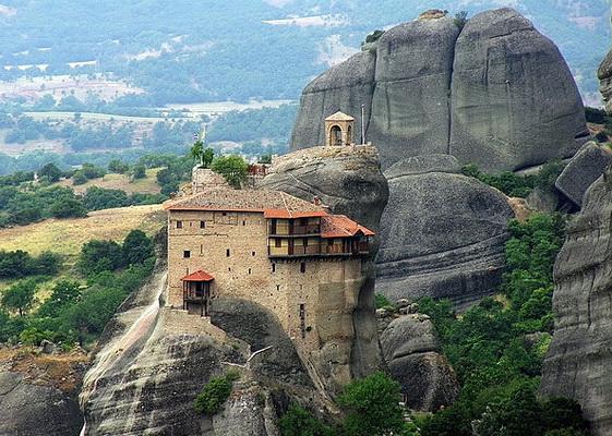 Метеоры. Монастырь на скале