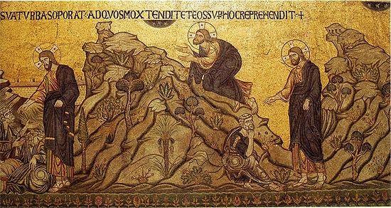 """""""Моление о чаше"""" мозаика из собора Св Марка в Венеции XIII в."""