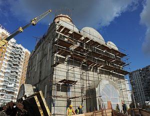 Храм только еще строится. Фото с сайта «Программы-200»