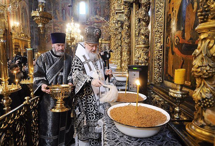 Освящение колива. Фото: Патриархия.Ru