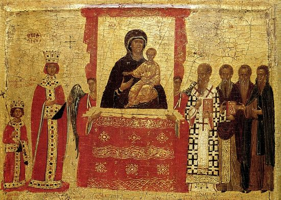 Торжество Православия. Фрагмент. Византия, XV в.