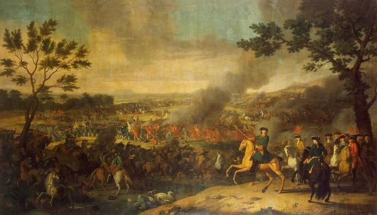 Каравак. Пётр I в Полтавской битве. 1718 г.