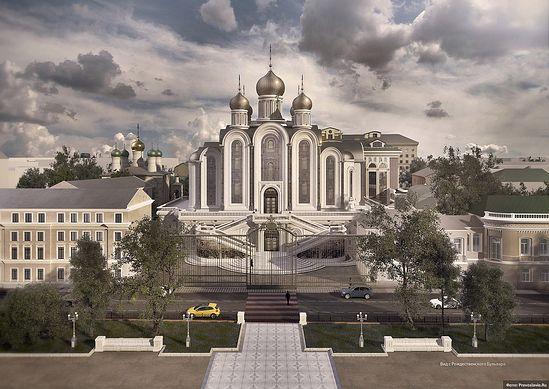 Вид с Рождественского бульвара. ИП Смирнов Дмитрий Михайлович. Победитель конкурса