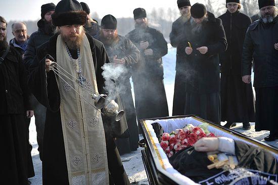 Погребение иеромонаха Арсения в скиту Сретенского монастыря