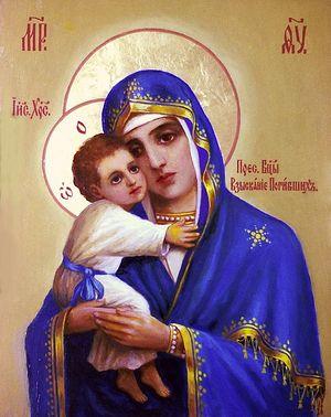 Икона Божией Матери письма Арсения Савицкого