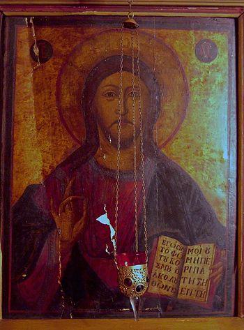 Икона из старого – первого – иконостаса Никольского храма в Брюсселе, переданная в приютский храм протоиереем Петром Извольским