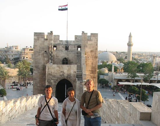 Евгений, Надежда и Алексей в Алеппо. Лето 2011 г.