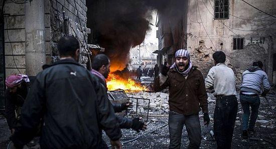 Боевики взяли по свой контроль район в Северном Алеппо, где был убит и обезглавен имам, шейх Хасан Сейфеддин, лояльный правительству Сирии. Его голову воздрузили на минарет мечети Аль-Хасан. 30 марта 2013 г.