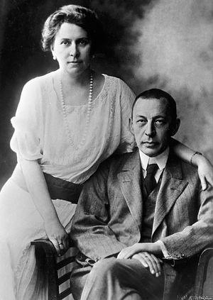 Рахманинов с женой