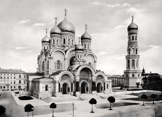 Варшавский собор Александра Невского, варварски взорванный поляками в 1926 году