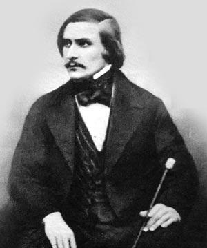 Фотогррафия Н. В. Гоголя во время жизни в Риме. 1845 г.