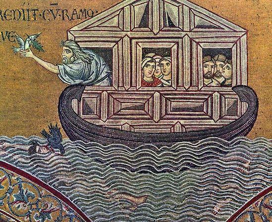 Ноев ковчег. Мозаика