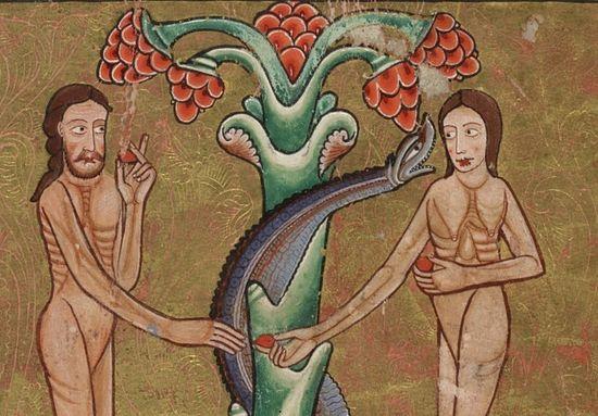 Миниатюра из Псалтири Хантера - английской рукописи XII в.